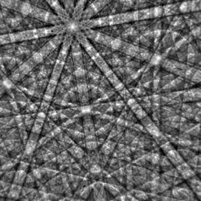 Gallium nitride EBSD pattern